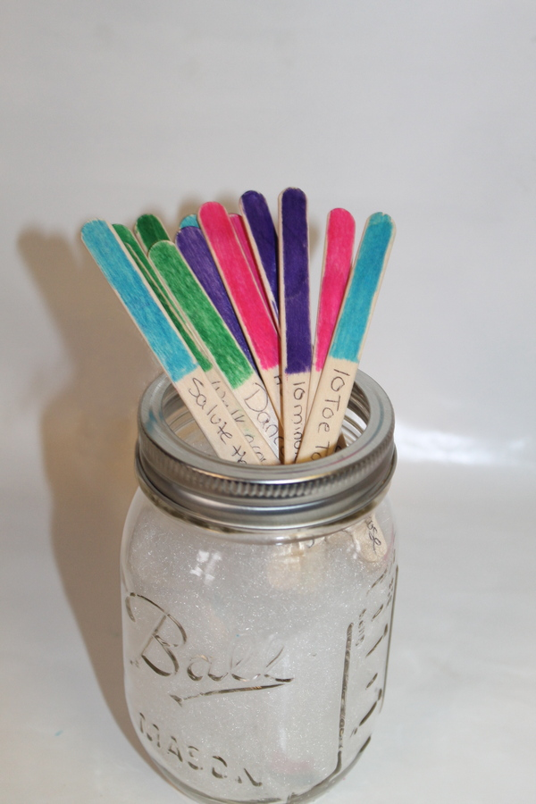 DIY activity sticks