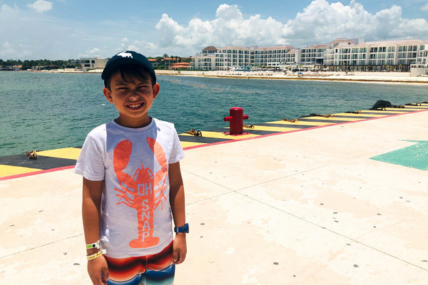 boy enjoying family cruise destinations