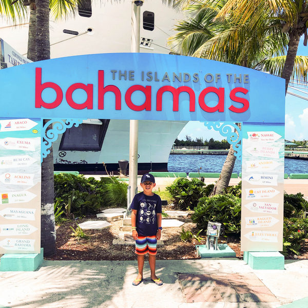 boy visiting cruise destination Bahamas