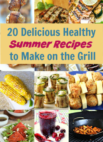 Looking for delicious healthy recipes to make on the grill this summer? Try these 20 yummy ideas! Plus, don't miss the top 5 grilling safety tips.