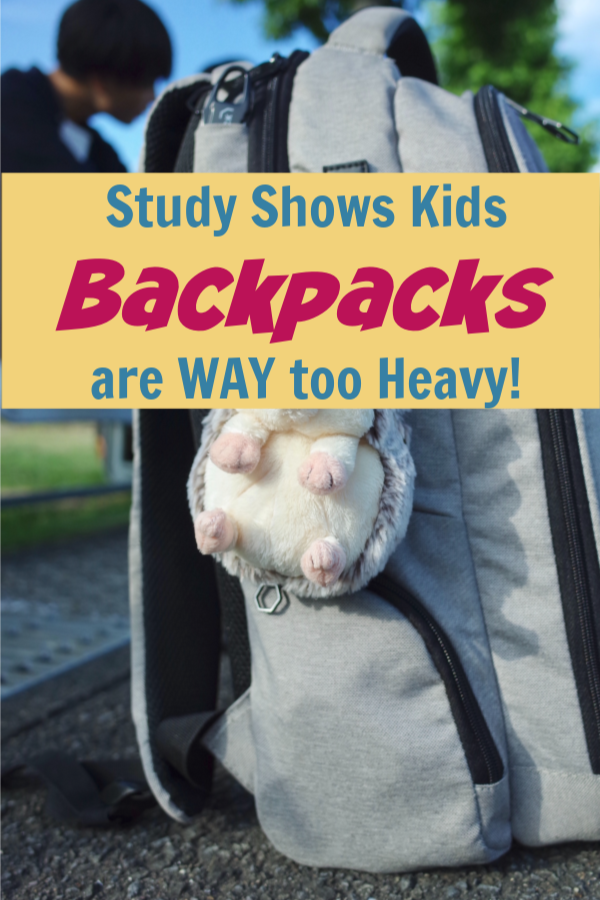 Backpacks Are Too Heavy! Here's How to Lighten the Load