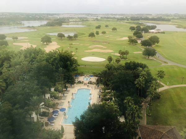 View from our room at the Omni Orlando at Championsgate Resort