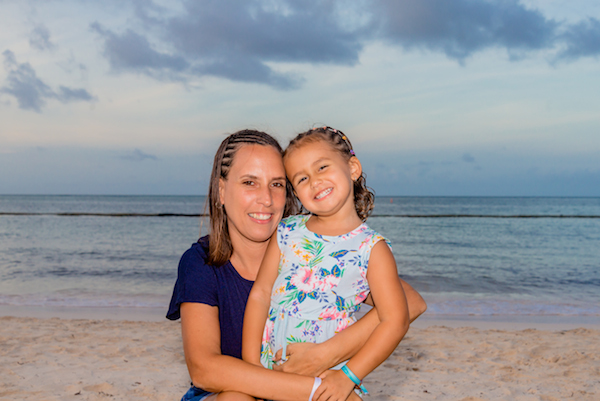 mother and daughter in Punta Cana