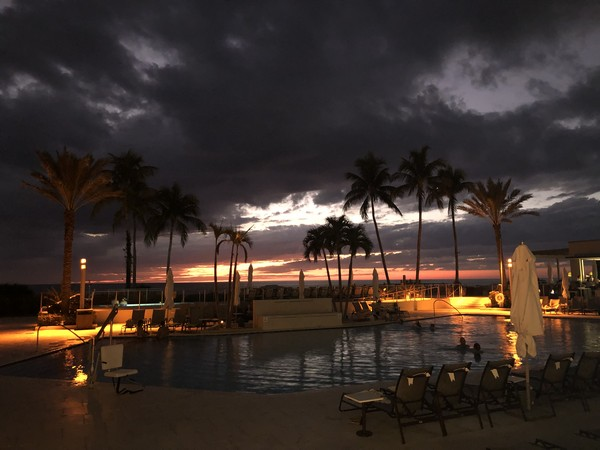 "Hilton Marco Island has a gorgeous heated ""resort-size"" pool with stunning views of the sunset."