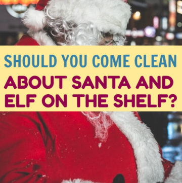Should you come clean about Santa and Elf on the Shelf to your kids this holiday season? Is there any harm in letting them believe longer? Find out here!