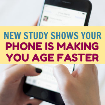 New study shows your phone is making you age faster, and all the anti-aging serums in the world can't stop it. Find out why & learn how to reduce the effects.