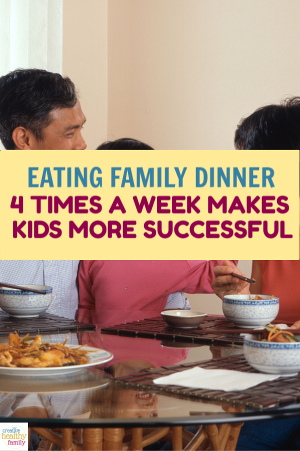 Eating family dinner together at least four times a week makes kids more successful & healthier throughout their entire life. Read on to learn about the scientifically proven benefits. Plus, get some tips on how to make it happen even when you lead super busy lives.