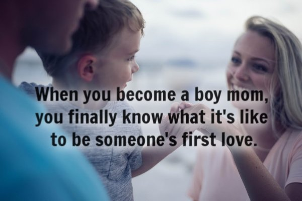 A son is a prince charming for life.