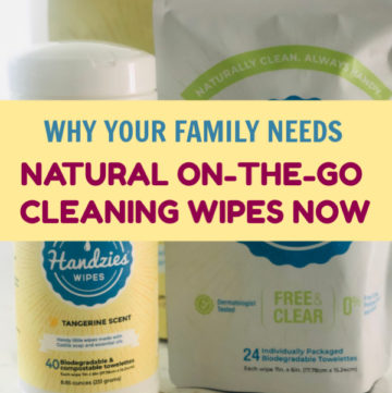 Between cold season, allergies, and kid's activities, your family needs natural on-the-go cleaning wipes now more than ever. Find out which ones we love!