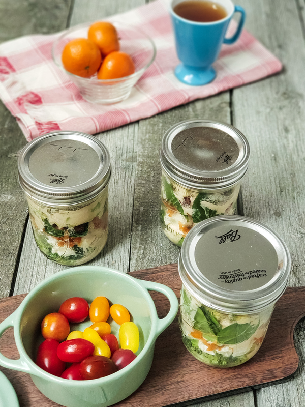 Cashew Aoli Mason Jar Salad summer recipes