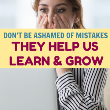 Mistakes help us grow and learn, so why are we so afraid to make them? Worse, why are we afraid to admit to them? Let's discuss!