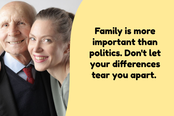 family is more important than politics