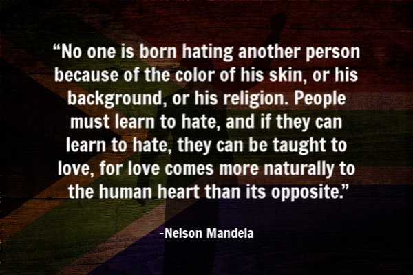 Nelson Mandela peace quote