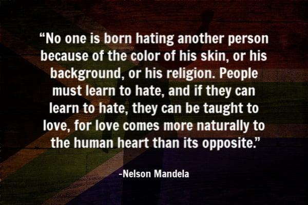 Nelson Mandela peace quote