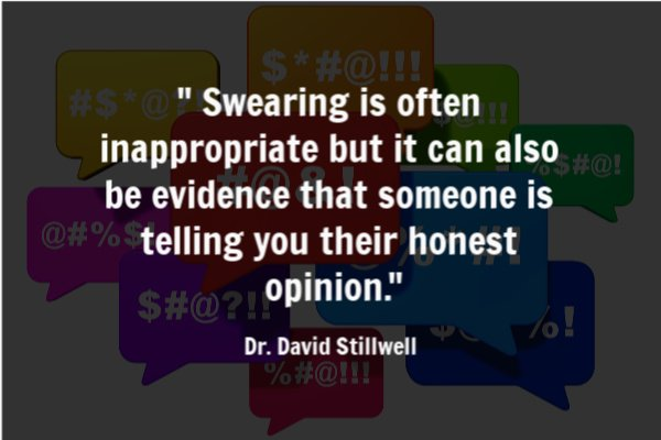 swearing may be a sign of honesty