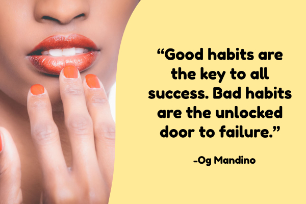 learn how to break bad habits by replacing them with good ones