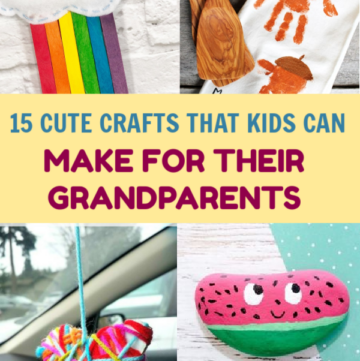 With Grandparents Day coming up, I'm sharing some super cute crafts for kids that make perfect handmade gifts for the special day! They're also perfect for other upcoming holidays, of course. Take a look!