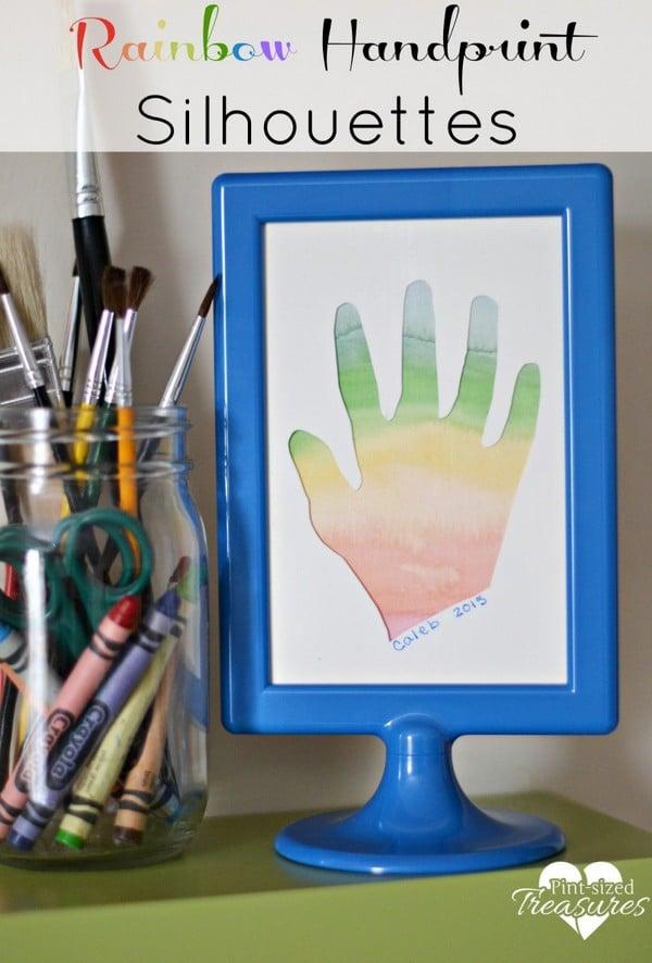 Rainbow Handprint Silhouette