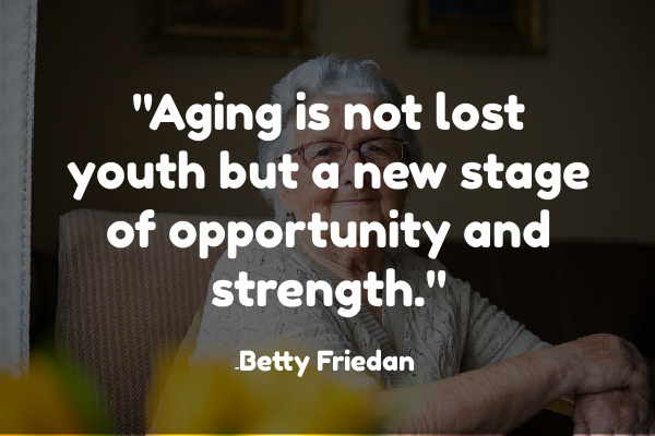 aging is not lost youth quote