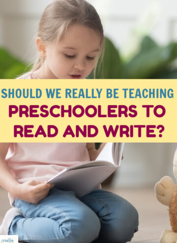 "Should we really be teaching preschool kids how to read and write? It may be an unpopular opinion, but I think the answer is ""no,"" and many experts agree. Read on to learn why."