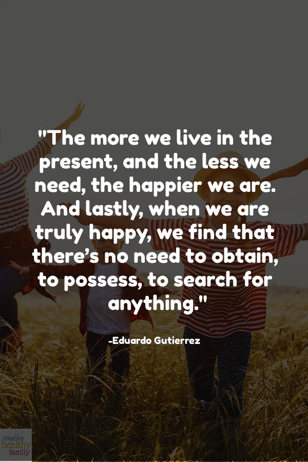 live in the present and find happiness quote