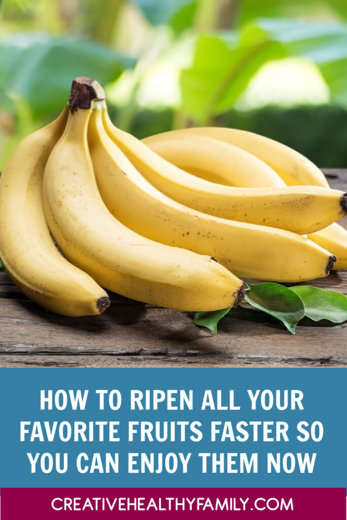 Want to know how to ripen a green banana faster? How about strawberries, pears or mangoes? Read on for tricks to ripen all your favorite fruits fast!