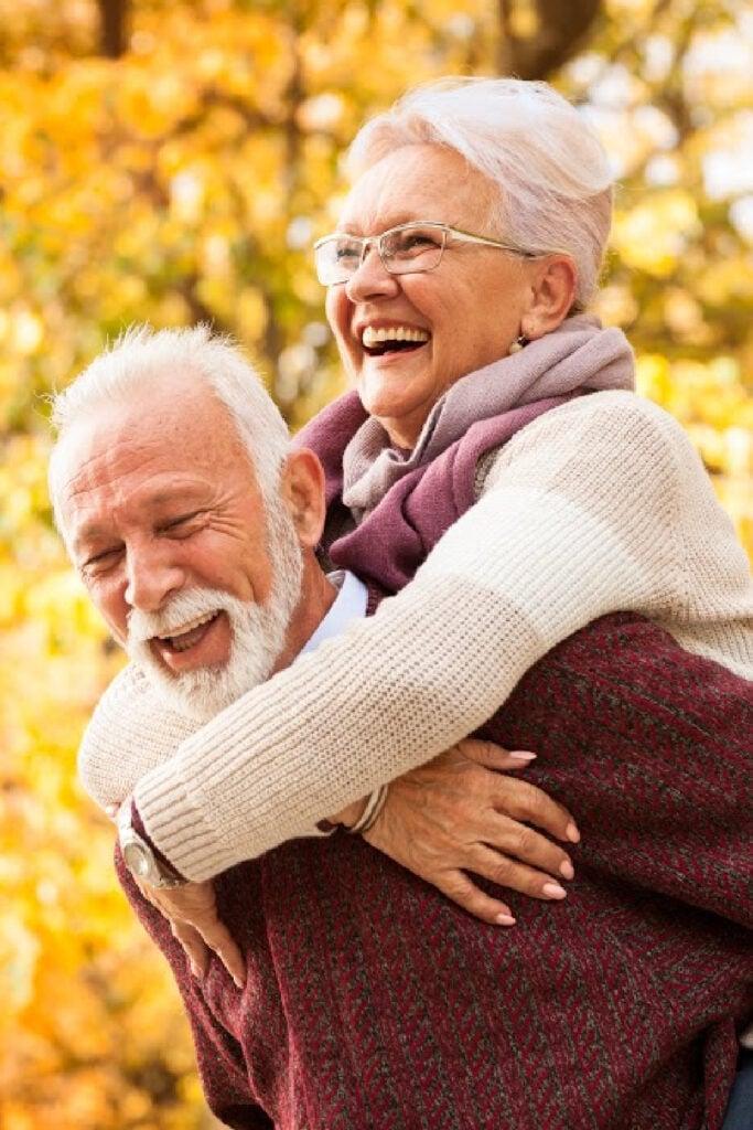 older couple still having fun