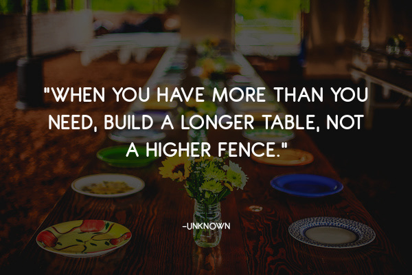 build a bigger table quote
