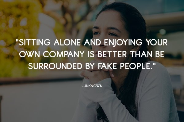 sitting alone in peace quote