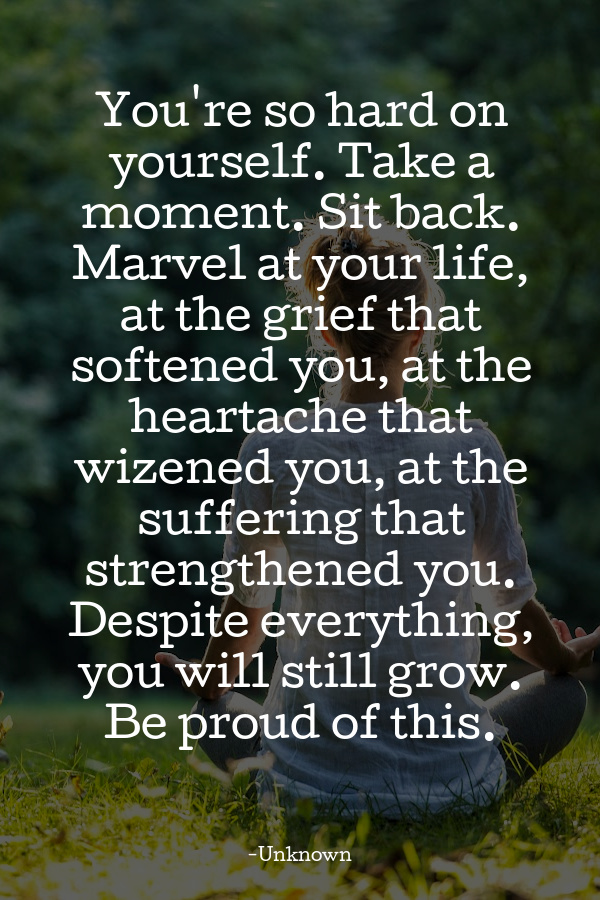 quote about being hard on yourself