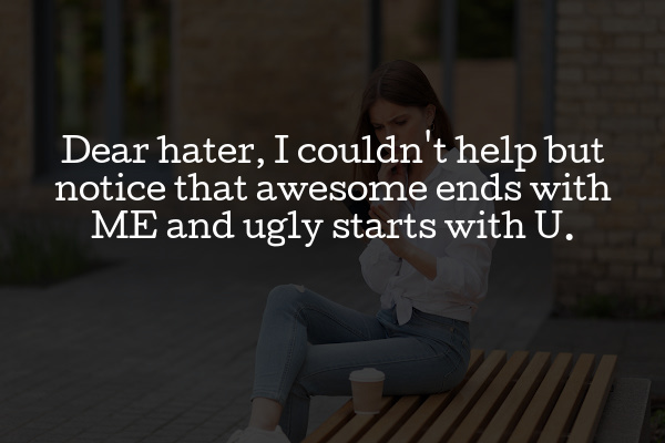 dear hater quote