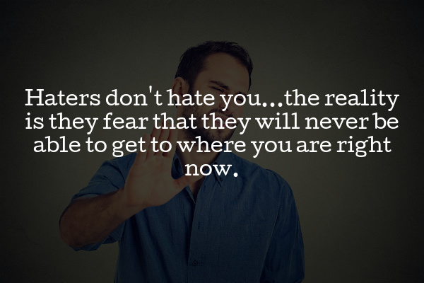 haters want to be you