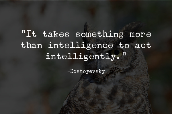 What defines truly intelligent people