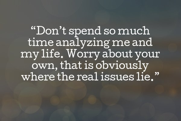 Quote about minding your own business